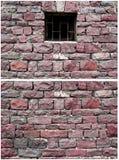 红色石墙 免版税库存照片