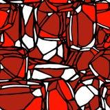 红色石无缝的样式 免版税库存图片