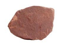 红色石英岩板岩-被变形的砂岩岩石自然样品  免版税库存照片
