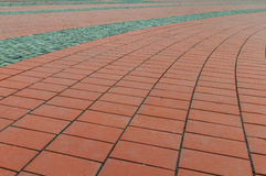 红色石头块在自由广场在蒂米什瓦拉 库存照片