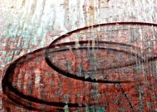 红色破旧,剥油绘画老木表面 库存照片