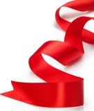 红色礼品丝带 免版税库存图片