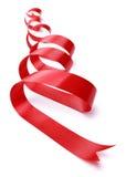 红色礼品丝带 免版税库存照片