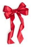 红色礼品丝带 库存照片
