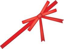 红色礼品弓 免版税库存照片