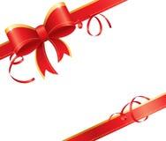 红色礼品弓 向量例证