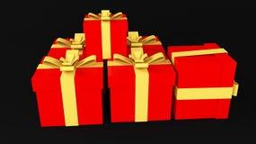 红色礼品 库存例证