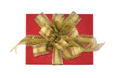 红色礼物盒 免版税库存照片