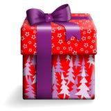 红色礼物盒 向量例证