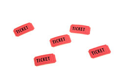 红色票 免版税库存照片