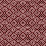 红色种族俄国无缝的样式 免版税库存图片