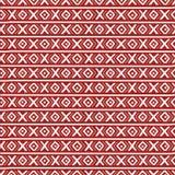 红色种族俄国无缝的样式 免版税库存照片