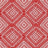 红色种族俄国无缝的样式 免版税图库摄影