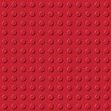 红色积木无缝的样式 皇族释放例证