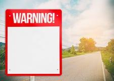 红色空白的警报信号 免版税库存照片