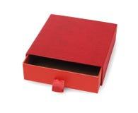 红色空的礼物盒 库存图片