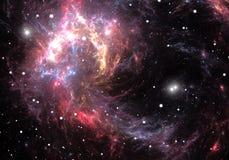 红色空间星云 免版税库存图片