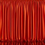 红色窗帘背景 库存例证