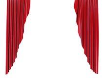 红色窗帘 免版税图库摄影