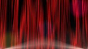 红色窗帘 向量例证