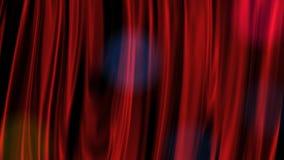 红色窗帘 库存例证