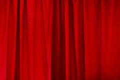 红色窗帘 免版税库存照片