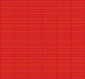 红色竹席子纹理 库存例证