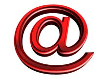 红色符号 免版税库存图片
