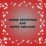红色简单的圣诞节背景 库存图片