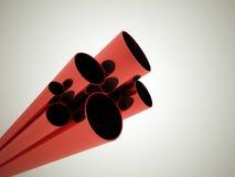 红色管 库存例证