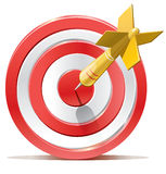 红色箭目标目标 免版税库存图片