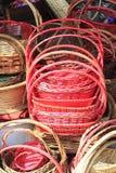 红色篮子 免版税图库摄影