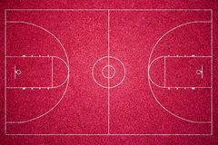 红色篮球场 图库摄影