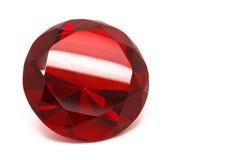 红色红宝石水晶 免版税库存图片