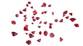 红色红宝石 图库摄影