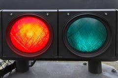 红色红绿灯 免版税库存照片