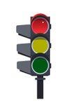 红色红绿灯 库存图片