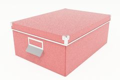 红色纸板储藏盒 免版税库存图片