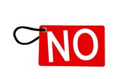 红色纸标签标记没有字 免版税库存照片
