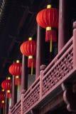 红色纸灯在豫园,上海 免版税库存照片