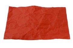 红色纸被弄皱的张  库存图片