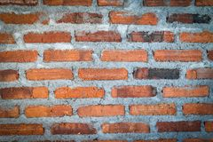 红色纹理背景砖墙  免版税库存图片