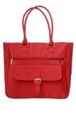 红色纺织品物品袋 免版税库存照片