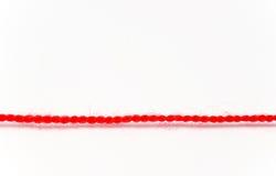 红色线程数 图库摄影