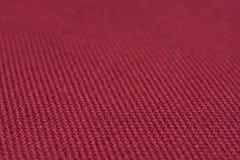 红色织品纹理 抽象背景,空的模板 免版税库存照片