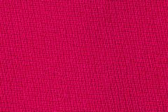红色织品背景纹理 纺织材料特写镜头细节  免版税图库摄影