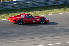 红色经典汽车赛跑的第39 库存照片