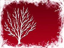 红色结构树冬天 免版税库存图片