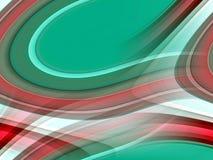 红色绿色桃红色银被弄脏的流体线背景,抽象五颜六色的几何 库存例证