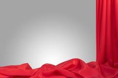 红色缎框架 免版税图库摄影
